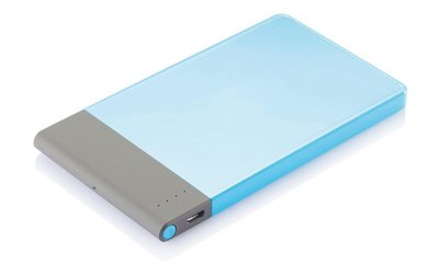 Loooqs Thin 4600 mAh powerbank blauw