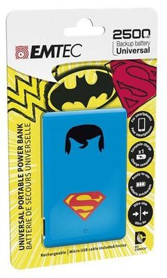 Emtec 2500 mAh powerbank superman